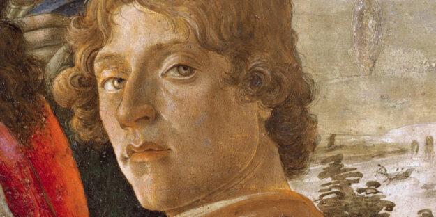Sandro Botticelli, Adorazione dei magi (part.), Galleria degli Uffizi