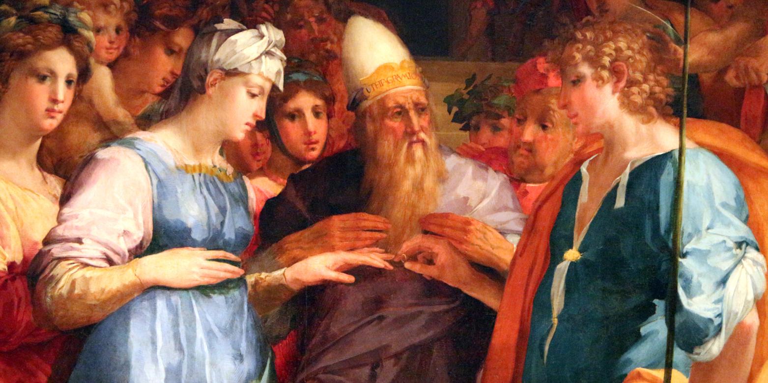 Rosso Fiorentino, Sposalizio della Vergine, San Lorenzo