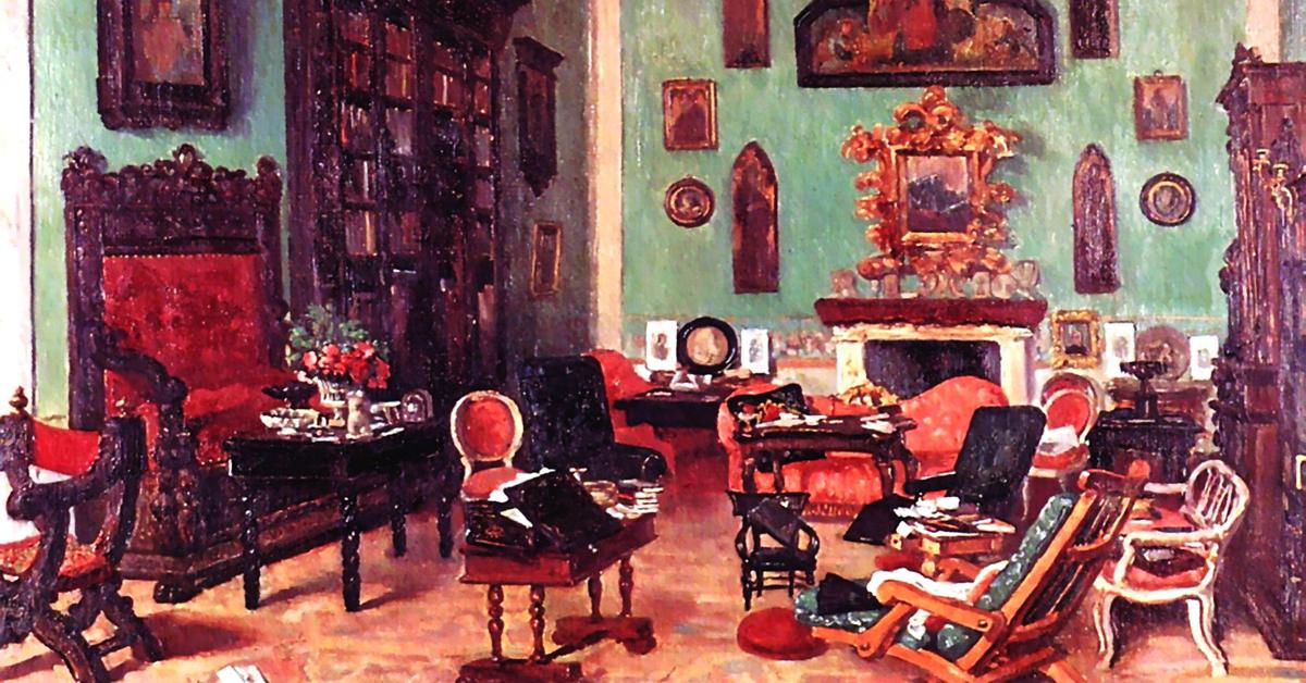 George Mignaty, Il salone di Casa Guidi