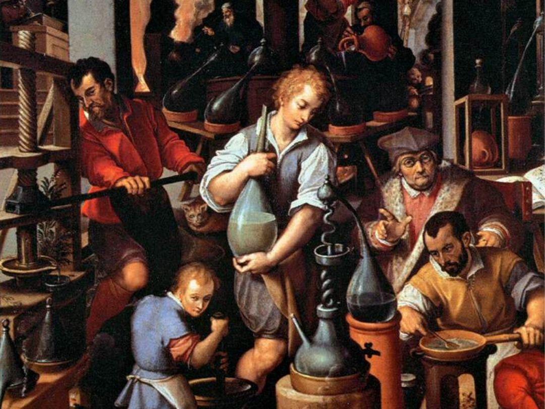 Giovanni Stradano, Il laboratorio dell'alchimista